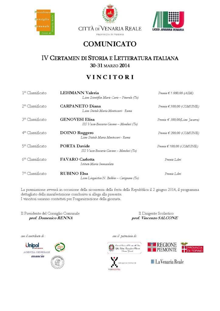 comunicato UFFICIALE vincitori 2014-page-001