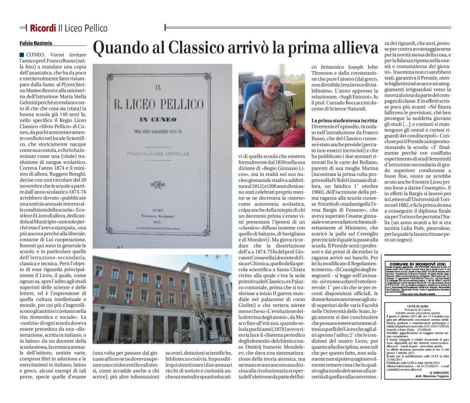 I Ricordi - Il Liceo Pellico